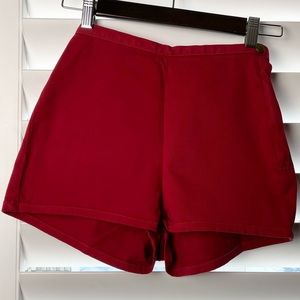 American Apparel Red High-Waisted Shorts